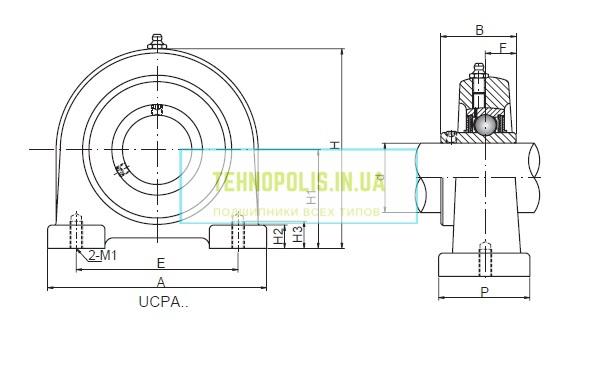 размеры подшипника в корпусе UCPA